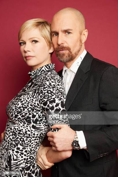 Michelle Williams and Sam Rockwell of FX's 'Fosse' pose for a portrait during the 2019 Winter TCA Getty Images Portrait Studio at The Langham...