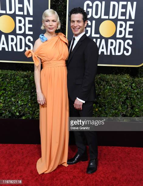 Michelle Williams and Thomas Kail arrives at the 77th Annual Golden Globe Awards attends the 77th Annual Golden Globe Awards at The Beverly Hilton...