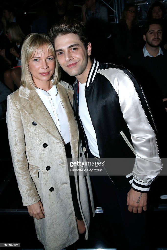 Michelle Williams and Xavier Dolan attend the Louis Vuitton show as part of the Paris Fashion Week Womenswear Spring/Summer 2016. Held at Louis Vuitton Foundation on October 7, 2015 in Paris, France.