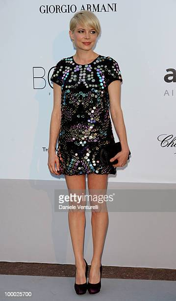 Michelle Williams arrives at amfAR's Cinema Against AIDS 2010 benefit gala at the Hotel du Cap on May 20 2010 in Antibes France