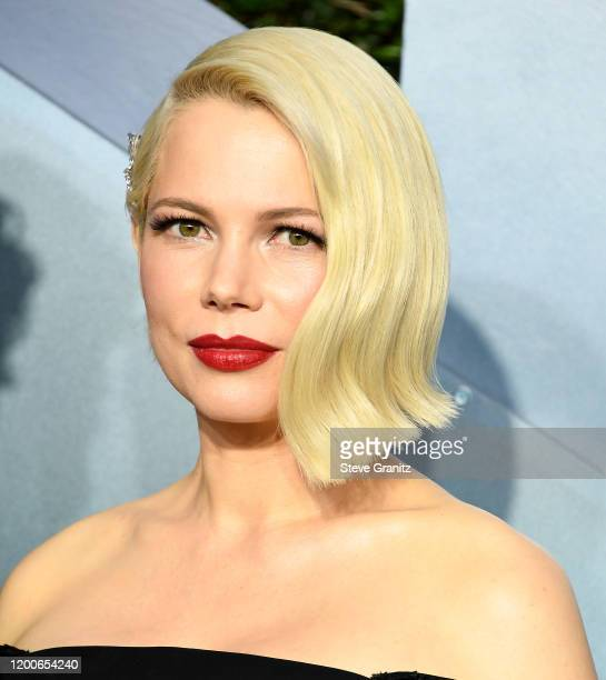Michelle Williams arrives at the 26th Annual Screen ActorsGuild Awards at The Shrine Auditorium on January 19 2020 in Los Angeles California