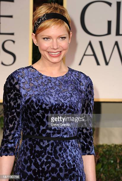 Michelle Williams arrives at the 69th Annual Golden Globe Awards at The Beverly Hilton hotel on January 15 2012 in Beverly Hills California