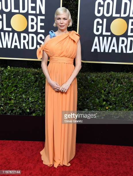 Michelle Williams arrives at the 77th Annual Golden Globe Awards attends the 77th Annual Golden Globe Awards at The Beverly Hilton Hotel on January...