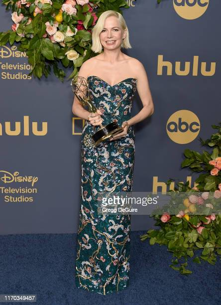 Michelle Williams arrives at the Walt Disney Television Emmy Party on September 22, 2019 in Los Angeles, California.