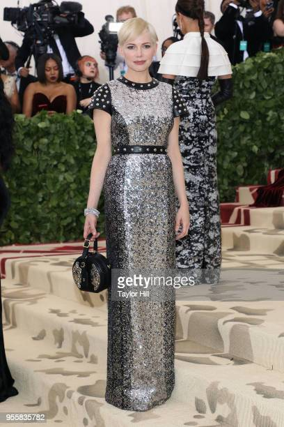 Michelle Williams attends Heavenly Bodies Fashion the Catholic Imagination the 2018 Costume Institute Benefit at Metropolitan Museum of Art on May 7...