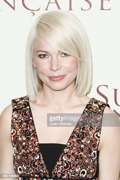 Michelle Williams attends 'Suite Francaise' Premiere at Cinema UGC Normandie on March 10 2015 in Paris France
