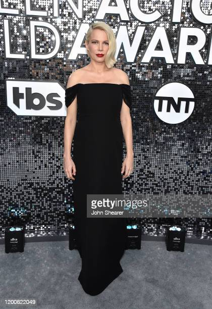 Michelle Williams attends the 26th Annual Screen Actors Guild Awards at The Shrine Auditorium on January 19 2020 in Los Angeles California