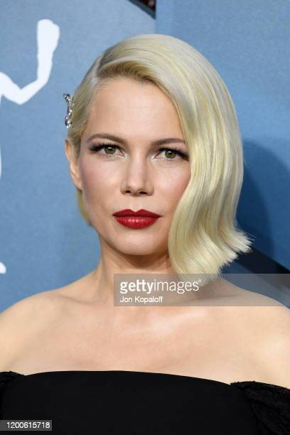 Michelle Williams attends the 26th Annual Screen ActorsGuild Awards at The Shrine Auditorium on January 19 2020 in Los Angeles California