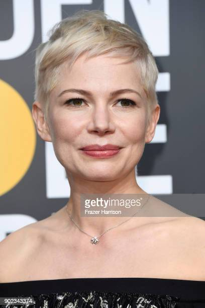 Michelle Williams attends The 75th Annual Golden Globe Awards at The Beverly Hilton Hotel on January 7 2018 in Beverly Hills California