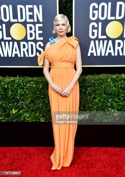 Michelle Williams attends the 77th Annual Golden Globe Awards at The Beverly Hilton Hotel on January 05, 2020 in Beverly Hills, California.
