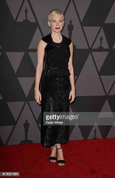 Michelle Williams attends the Academy of Motion Picture Arts and Sciences' 9th Annual Governors Awards at The Ray Dolby Ballroom at Hollywood...