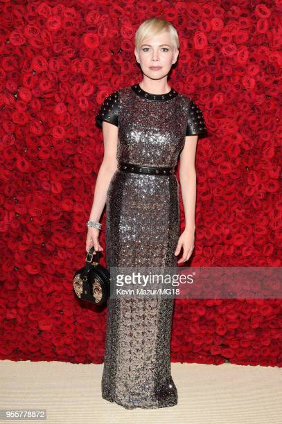 Michelle Williams attends the Heavenly Bodies Fashion The Catholic Imagination Costume Institute Gala at The Metropolitan Museum of Art on May 7 2018...
