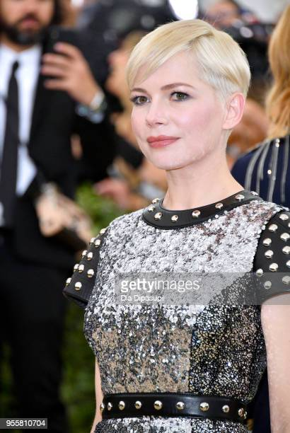 Michelle Williams attends the Heavenly Bodies: Fashion & The Catholic Imagination Costume Institute Gala at The Metropolitan Museum of Art on May 7,...