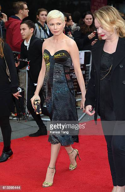 Michelle Williams attends the 'Manchester By The Sea' International Premiere screening during the 60th BFI London Film Festival at Odeon Leicester...