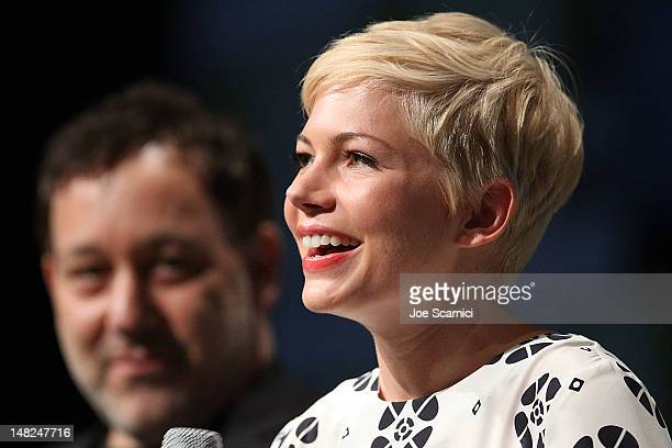 Michelle Williams attends the Oz The Great and Powerful panel at ComicCon International 2012 Day 1 at San Diego Convention Center on July 12 2012 in...