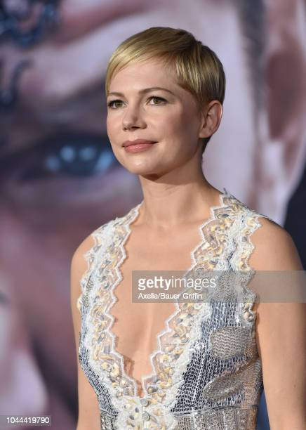 Michelle Williams attends the premiere of Columbia Pictures' 'Venom' at Regency Village Theatre on October 1 2018 in Westwood California