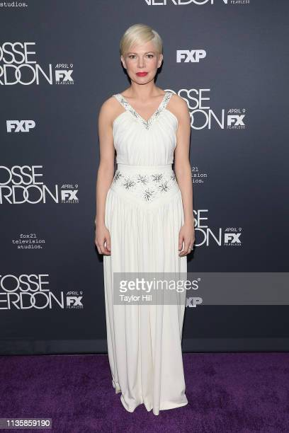 """Michelle Williams attends the premiere of """"Fosse/Verdon"""" at the Gerald Schoenfeld Theatre on April 8, 2019 in New York City."""