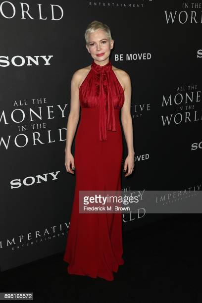 Michelle Williams attends the premiere of Sony Pictures Entertainment's 'All The Money In The World' at Samuel Goldwyn Theater on December 18 2017 in...