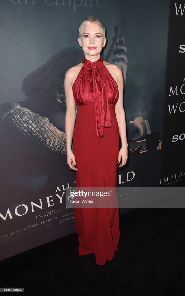 Michelle Williams attends the premiere of Sony Pictures Entertainment's 'All The Money In The World' at Samuel Goldwyn Theater on December 18, 2017 in Beverly Hills, California.