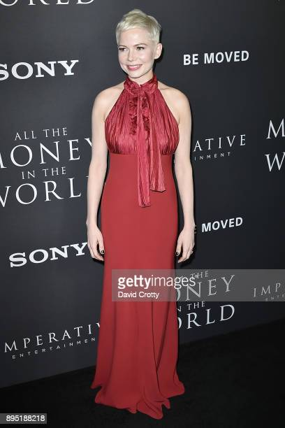 Michelle Williams attends the Premiere Of Sony Pictures Entertainment's 'All The Money In The World' Arrivals at Samuel Goldwyn Theater on December...