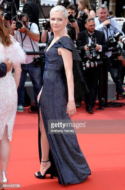 Michelle Williams attends the 'Wonderstruck ' screening during the 70th annual Cannes Film Festival at Palais des Festivals on May 18 2017 in Cannes...