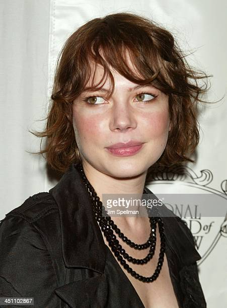Michelle Williams during National Board of Review of Motion Pictures 2003 Annual Awards Gala at Tavern on the Green in New York City New York United...