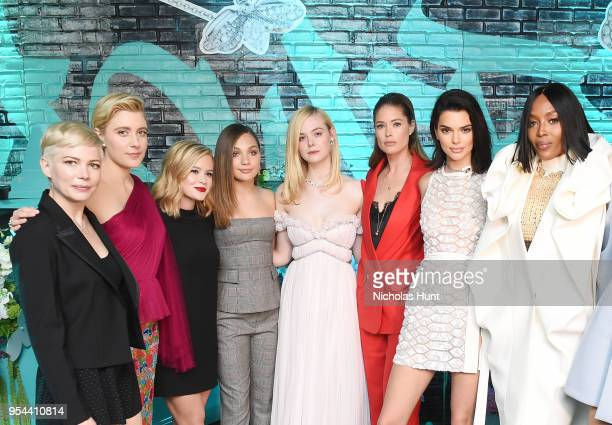 Michelle Williams Greta Gerwig Ava Phillippe Maddie Ziegler Elle Fanning Doutzen Kroes Kendall Jenner and Naomi Campbell attend the Tiffany Co Paper...