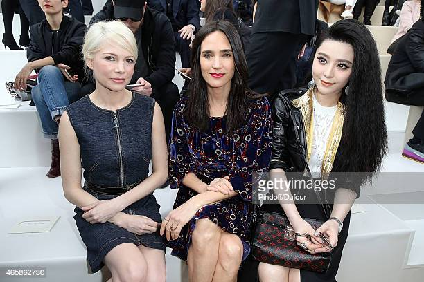Michelle Williams Jennifer Connelly and Fan Bingbing attend the Louis Vuitton show as part of the Paris Fashion Week Womenswear Fall/Winter 2015/2016...