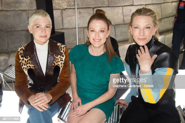 Michelle Williams Julianne Moore and Cate Blanchett attend the Louis Vuitton show as part of the Paris Fashion Week Womenswear Spring/Summer 2018 at...