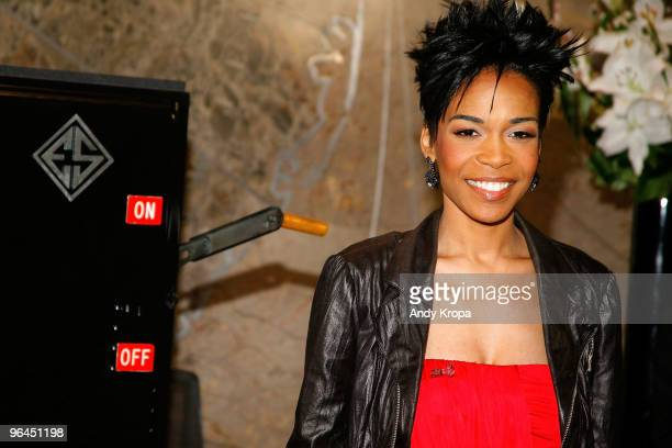Michelle Williams lights the Empire State Building red for Go Red for Women on February 5 2010 in New York City