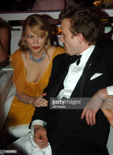 Michelle Williams nominee Best Actress in a Supporting Role for 'Brokeback Mountain' and Heath Ledger nominee Best Actor in a Leading Role for...