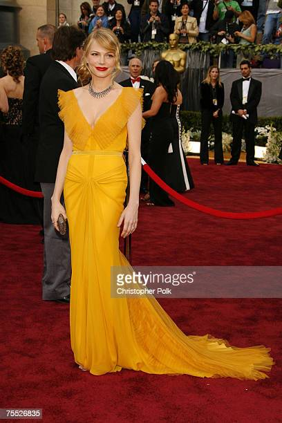 Michelle Williams nominee Best Actress in a Supporting Role for Brokeback Mountain at the The 78th Annual Academy Awards Arrivals at Kodak Theatre in...