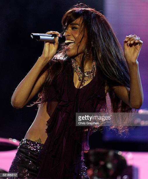 Michelle Williams of Destiny's Child performs at the 2005 Essence Festival at the New Orleans Superdome on July 2 2005 in New Orleans Louisianna