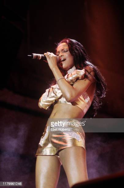 Michelle Williams performing with Destiny's Child at Hershey Park in Hershey Pennsylvania on July 24 as part of the TRL Tour