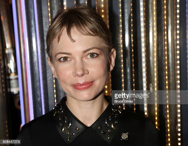 Michelle Williams poses at The 70th Annual Tony Awards Meet The Nominees Press Junket at The Diamond Horseshoe at the Paramount Hotel on May 4 2016...