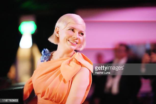 Michelle Williams winner of Golden Globe award for Actress In A Miniseries or Motion Picture for TV for Fosse/Verdon at the Official Viewing And...