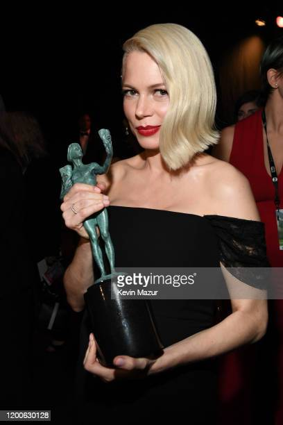Michelle Williams, winner of the Outstanding Performance by a Female Actor in a Television Movie or Miniseries award for 'Fosse/Verdon,' attends the...