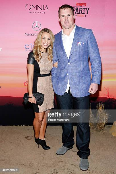 Michelle Witten and NFL player Jason Witten attend ESPN the Party at WestWorld of Scottsdale on January 30 2015 in Scottsdale Arizona