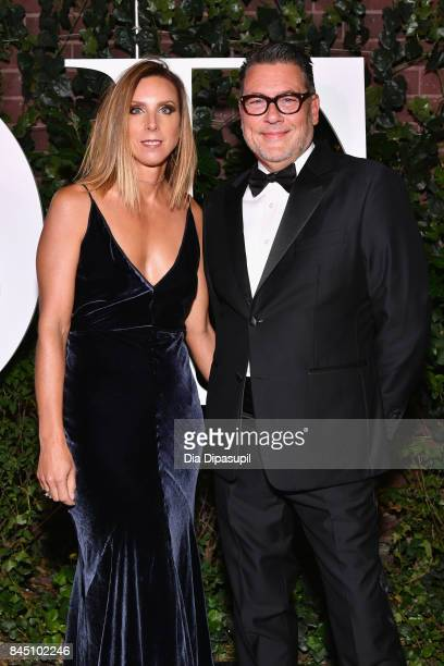 Michelle Wlazlo and Mark Tritton arrive at the #BoF500 gala dinner during New York Fashion Week Spring/Summer 2018 at Public Hotel on September 9...