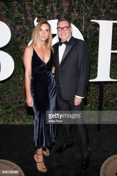 Michelle Wlazlo and Mark Tritton attend the 2017 BoF 500 Gala at Public Hotel on September 9 2017 in New York City