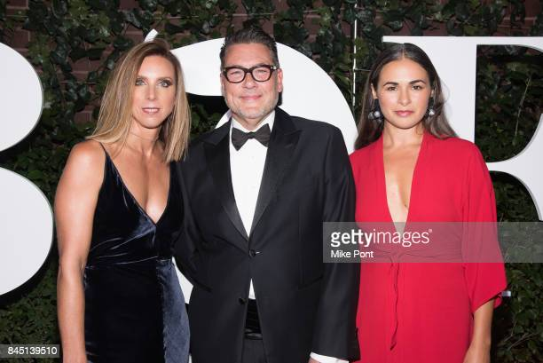Michelle Wlazlo Mark Tritton and Nori Morales attend the 2017 BoF 500 Gala at Public Hotel on September 9 2017 in New York City