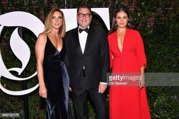 Michelle Wlazlo Mark Tritton and Noria Morales arrive at the #BoF500 gala dinner during New York Fashion Week Spring/Summer 2018 at Public Hotel on...