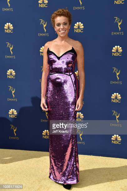 Michelle Wolf attends the 70th Emmy Awards at Microsoft Theater on September 17 2018 in Los Angeles California