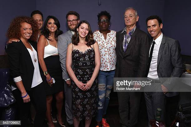 Michelle Wolf Josh Charles Cecily Strong Seth Rogen Lauren Miller Leslie Jones Bill Murray and Oz Pearlman pose backstage as Hilarity for Charity...