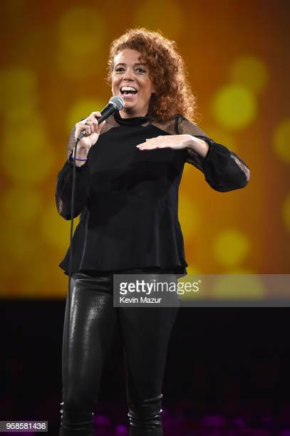 Michelle Wolf performs on stage during The Robin Hood Foundation's 2018 benefit at Jacob Javitz Center on May 14 2018 in New York City