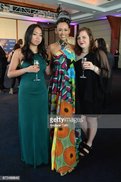 Michelle Woo of For Freedoms Fashion Designer Anya AyoungChee and Taylor Brock attend The International Center of Photography's 33rd Annual Infinity...