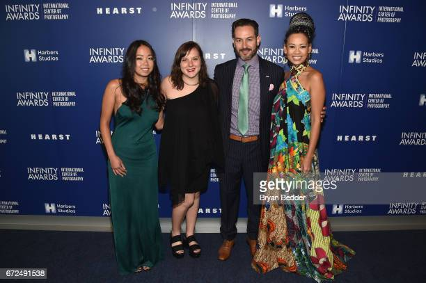 Michelle Woo of For Freedoms Taylor Brock Wyatt Gallery of For Freedoms and Fashion Designer Anya AyoungChee attend The International Center of...