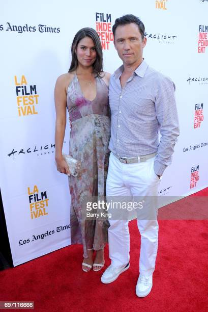 Michelle Woods and actor Jeffrey Donovan attends the 2017 Los Angeles Film Festival - Gala Screening Of 'Shot Caller' at Arclight Cinemas Culver City...