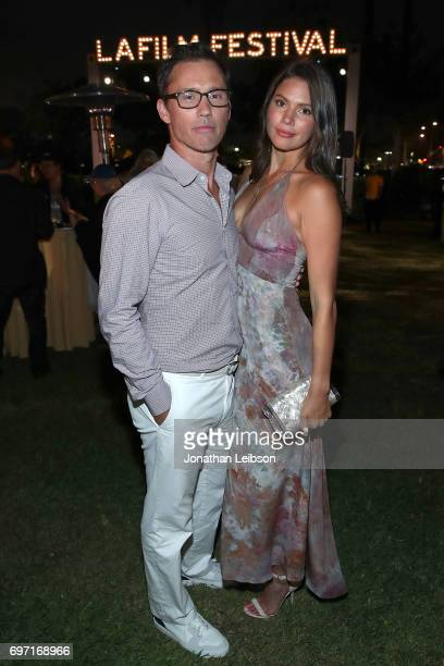 Michelle Woods and Jeffrey Donovan attend the AT&T And Saban Films Present The LAFF Gala Premiere Of Shot Caller at ArcLight Cinemas on June 17, 2017...