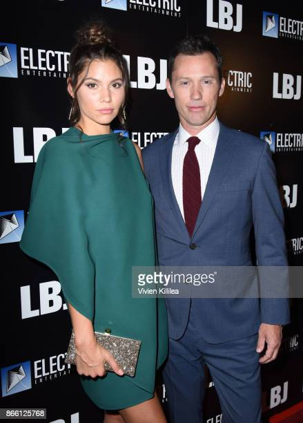 Michelle Woods and Jeffrey Donovan attend the Los Angeles Premiere of LBJ at ArcLight Hollywood on October 24, 2017 in Hollywood, California.